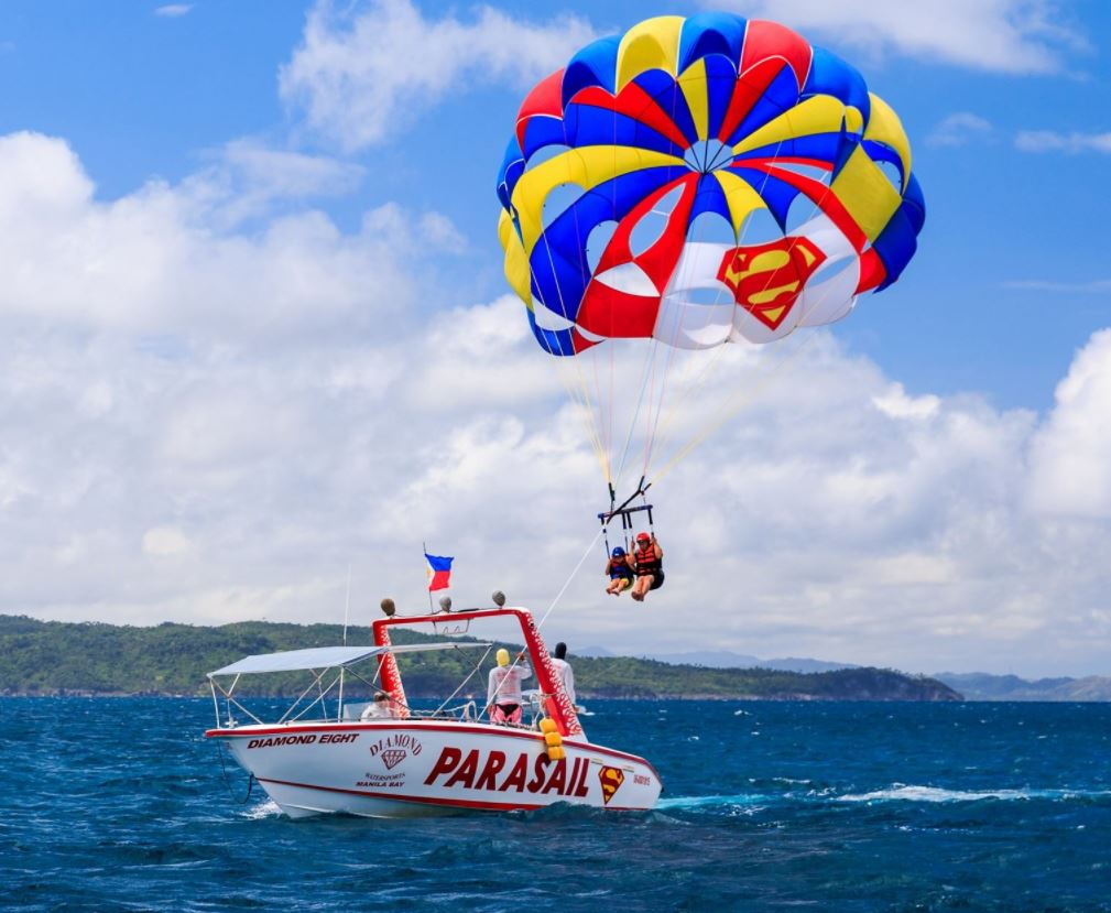 Parasailing in Boracay, Philippines