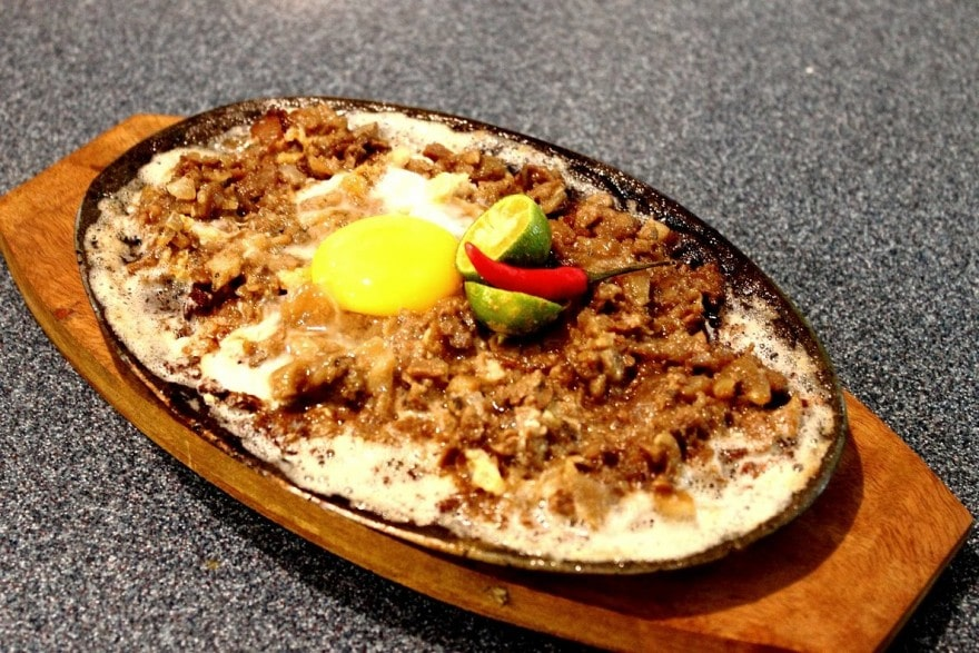 crocodile sisig in Palawan, Philippines