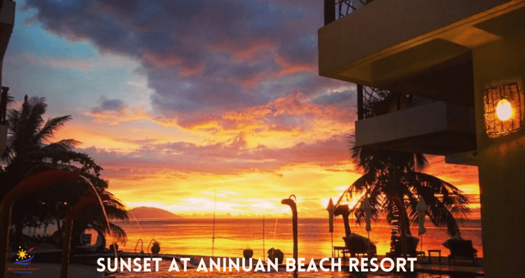 Sunset at Aninuan Beach Resort, Puerto Galera